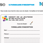 La fiche d'inscription